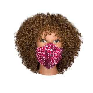 medium mask pink batik